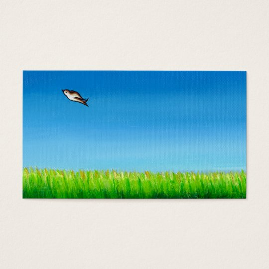 Bird flying colorful painting original art Easy Business Card