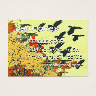 Bird Flying Fall Colors Business Card