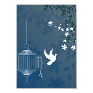 Bird Flying from Cage Card