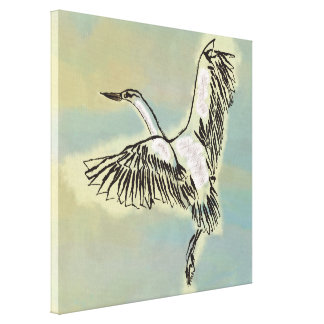 Bird Flying in the Sky Free Wild Bird Affordable Gallery Wrap Canvas