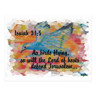 Bird Flying Messianic Jew bible verse Christian Postcard