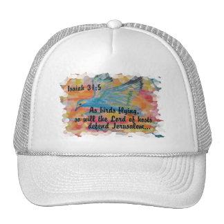 Bird Flying Messianic Jew bible verse Christian Trucker Hat