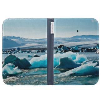 Bird Flying over Iceberg Lake Cases For Kindle