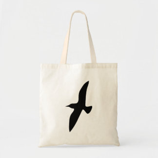 Bird Flying Silhouette Tote Bags