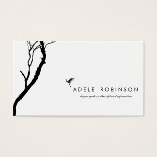 Bird Flying to a Tree / Black & White Photography Business Card