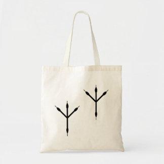 Bird Footprints Silhouette Canvas Bags