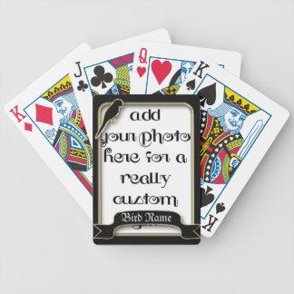 Bird Frame Keepsake Photo Template Playing Cards