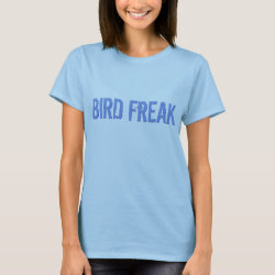 Women's Basic T-Shirt with Bird Freak design