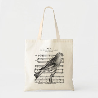 Bird , French music page background Tote Bag