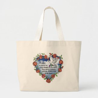Bird from Heaven Large Tote Bag