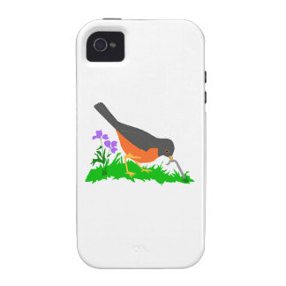Bird Getting Worm iPhone 4 Covers