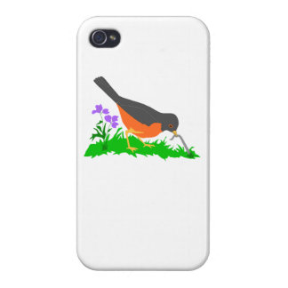 Bird Getting Worm iPhone 4/4S Cases