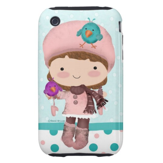 Bird Girl Cute iPhone 3GS Case