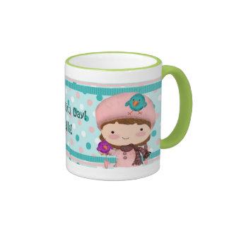 Bird Girl Cute Mug