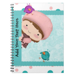 Bird Girl Cute Notebook