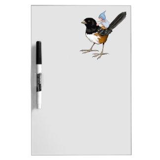 Bird, Gnome Child on Back, Fantasy Illustration Dry-Erase Board