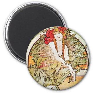 Bird Goddess 2 Inch Round Magnet