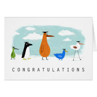 Bird Grads Congratulations Greeting Card