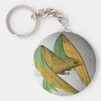 Bird Graffiti, Basel, Switzerland Basic Round Button Keychain