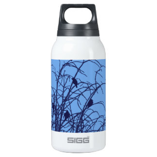 Bird Graphic black on blue SIGG Thermo 0.3L Insulated Bottle