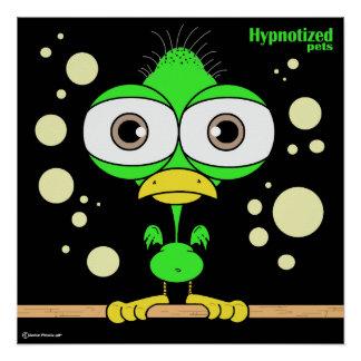 """Bird Green 20"""" x 20"""", Poster Paper (Semi-Gloss)"""