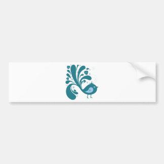 Bird ~ Green & Blue Song Birds Songbird Car Bumper Sticker
