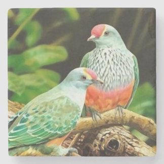 Bird green to _coaster posavasos of stone stone coaster