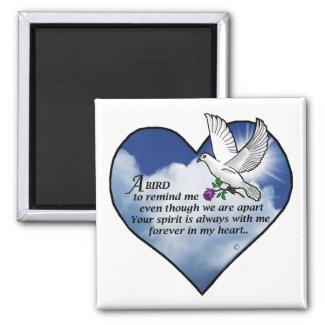 Bird Heart Poem Magnet
