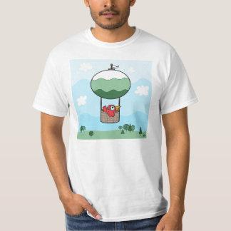 Bird Hot Air Ballon - Basic T-Shirt