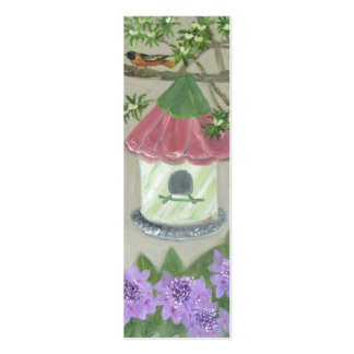 Bird House Bookmark Double-Sided Mini Business Cards (Pack Of 20)