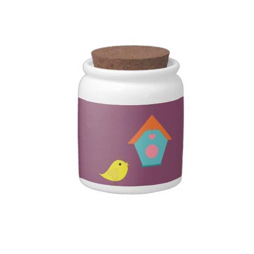 Bird & House Candy Jars