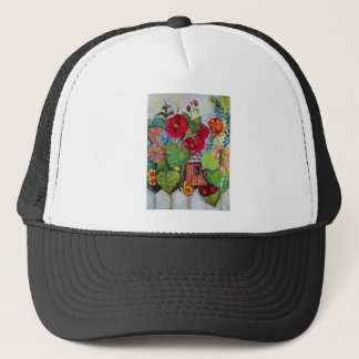 Bird House Cottage Garden Trucker Hat