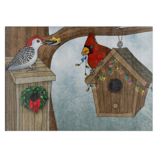 Bird House Holiday Cutting Board