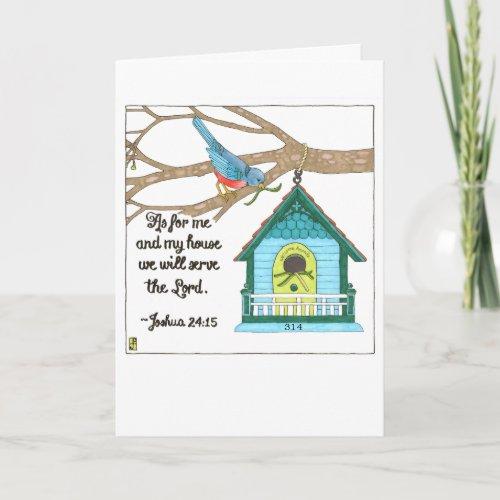 Bird House Housewarming Card