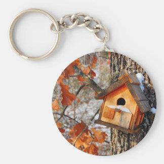 Bird House Keychain