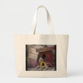 Bird House Large Tote Bag
