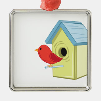 Bird House Metal Ornament