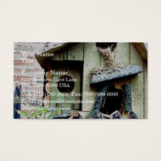 Bird house nest business card