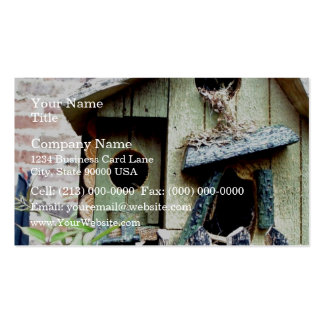 Bird house nest Double-Sided standard business cards (Pack of 100)