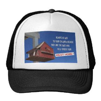 Bird house rest home trucker hat