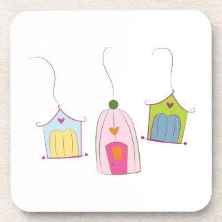 Bird Houses Beverage Coasters