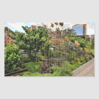 Bird Houses / Feeders in High Line Park 02 Rectangular Sticker