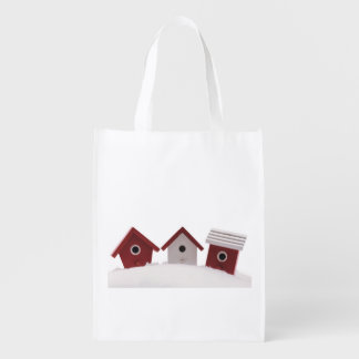 Bird houses grocery bag