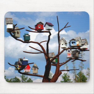 Bird Houses Mouse Pad