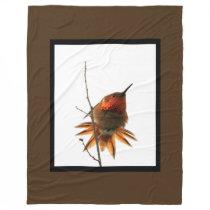 Bird Hummingbird Animal Rufous Fleece Blanket