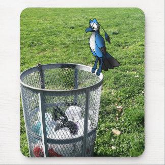 Bird Hybrid on Trash Can Mousepad