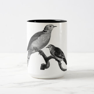 Bird image coffee mug. Two-Tone coffee mug