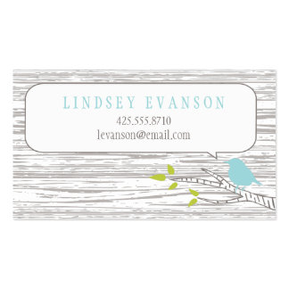Bird in a Birch Tree Calling Card