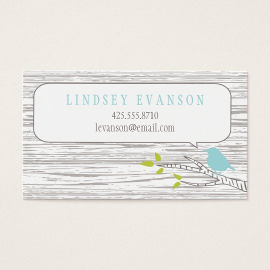 Bird in a Birch Tree Calling Card