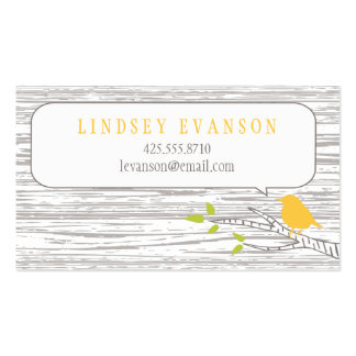Bird in a Birch Tree Calling Card Business Card